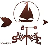 Hand Made SAILBOAT NAUTICAL FLAT POST Mount Weathervane ~NEW~ by SWEN Products