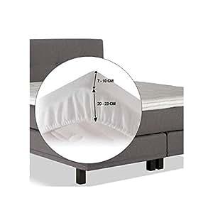 Sábana bajera de franela - Molton para topper de colchón 140 x 210 cm - 140