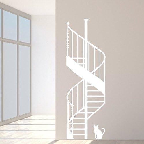budhasuite Vinilo Decorativo Escalera Caracol.M .(135x45cm.Aprox.) Color Blanco.: Amazon.es: Hogar