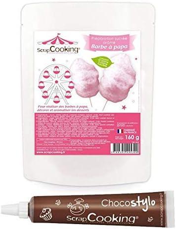 Preparación para Algodón de azúcar rosa + Tubo de chocolate para ...