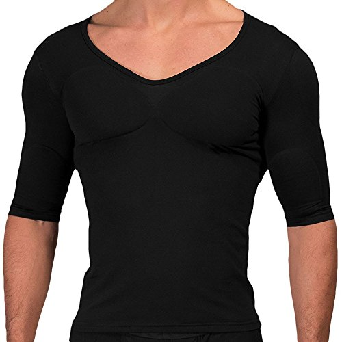 Rounderbum Men's Muscle Shirt, Black, X-Large (Pad Shirt Muscle)