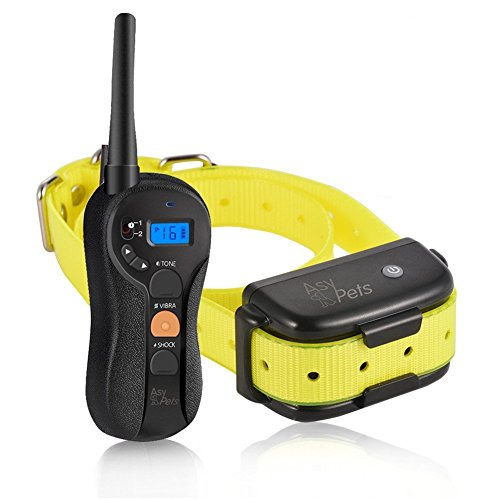 AsyPets Waterproof & Rechargeable Dog Training Collar for 15