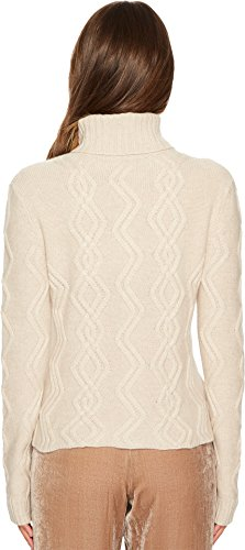 Cashmere In Love Women's Tess Cropped Cable Knit Pullover Wheat Medium by Cashmere In Love (Image #2)