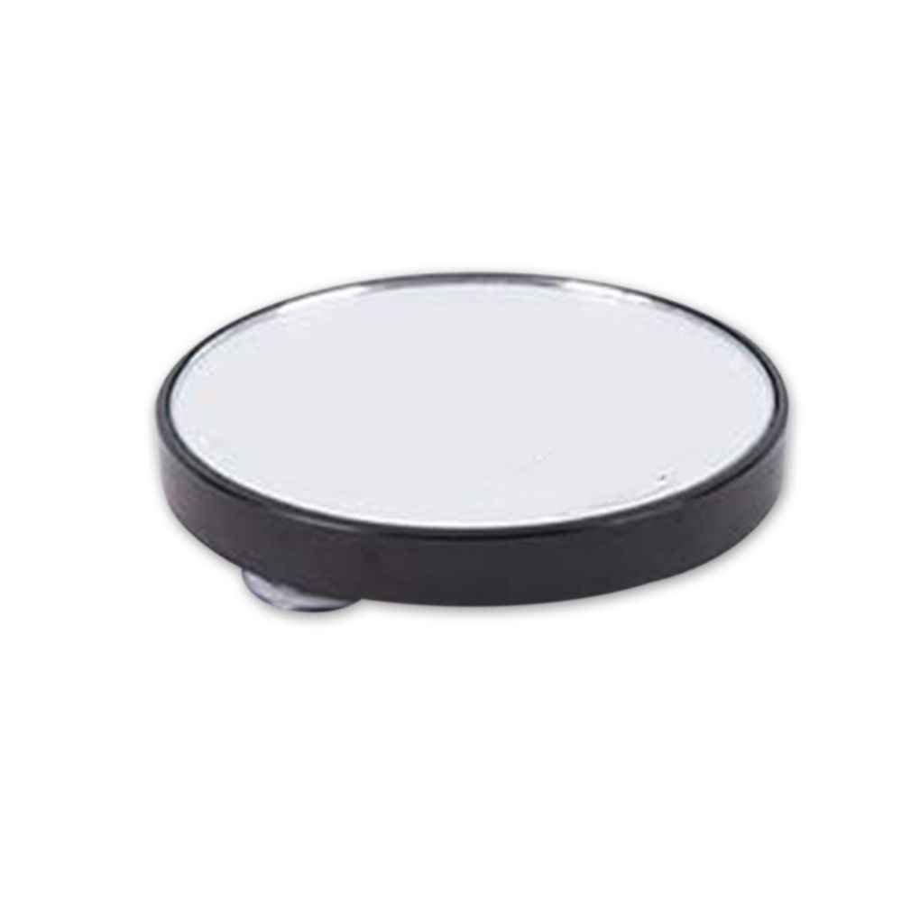 F-blue Ventouse Portable Petit arrondissent Miroir grossissant LED Miroirs de Maquillage