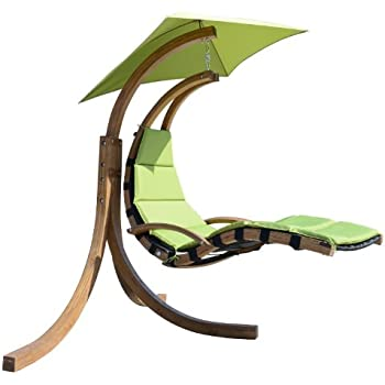 Outsunny outdoor hanging sky swing chair with stand green garden outdoor - Amaca da giardino amazon ...