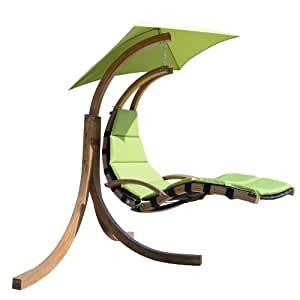 Amazon Com Outsunny Outdoor Hanging Sky Swing Chair With