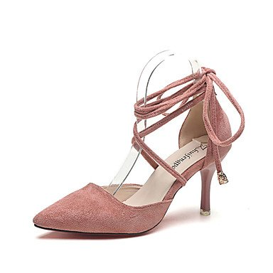 LvYuan Da donna-Sandali-Formale Casual-Comoda-Kitten-PU (Poliuretano)-Nero Verde Rosa Pink