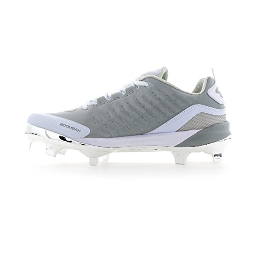 Boombah Mens Catalyst Metal Cleats - 5 Color Options - Multiple Sizes Platinum/Gray IddfnH9R