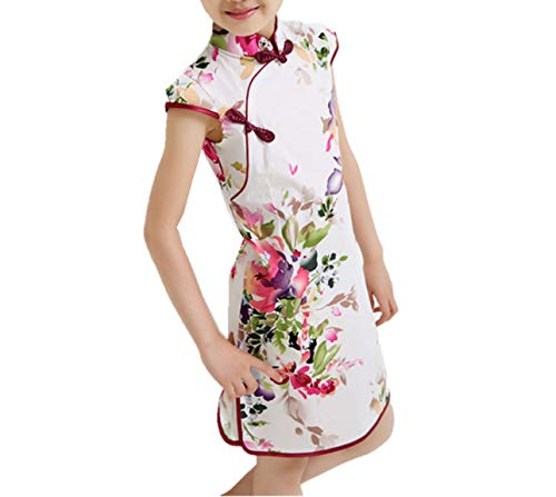 Baby Girls Dresses Chinese Traditional Style Cheongsam Costume Children Clothing,Style One,12 -