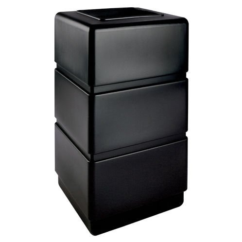 3 Waste Containers (PolyTec 38-Gal 3-Tier Waste Container Color: Black)