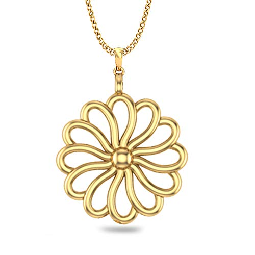 DISHIS 14kt Yellow Gold Pendant for Women