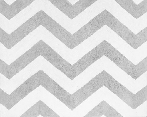Accent Floor Rug for Pink and Gray Chevron Zig Zag Bedding C