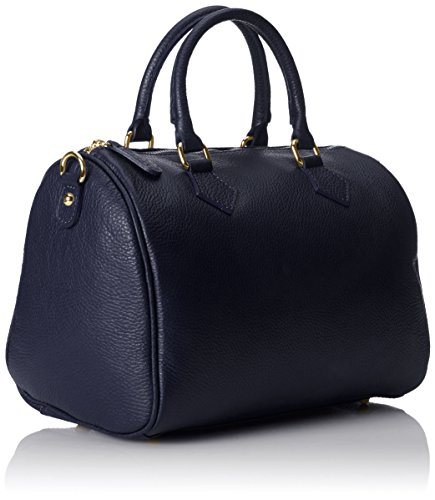 Hand Italy Satchel Made CTM Bag Scuro Blue 100 in Women Blu 30x23x18cm FCxwOx