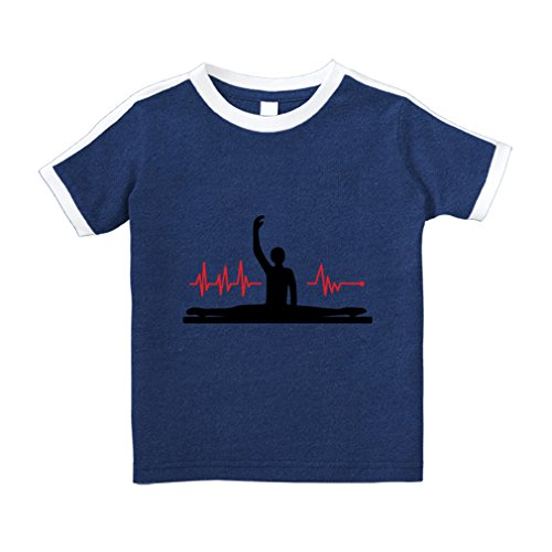 Cute Rascals My Heart Beats For Gymnastics Sport Cotton Short Sleeve Crewneck Unisex Toddler T-Shirt Soccer Tee - Royal Blue, 2T