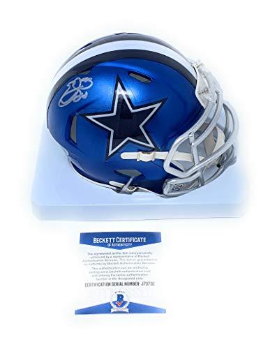 Emmitt Smith Dallas Cowboys Signed Autograph BLAZE Speed Mini Helmet Steiner Sports Certified from Mister Mancave