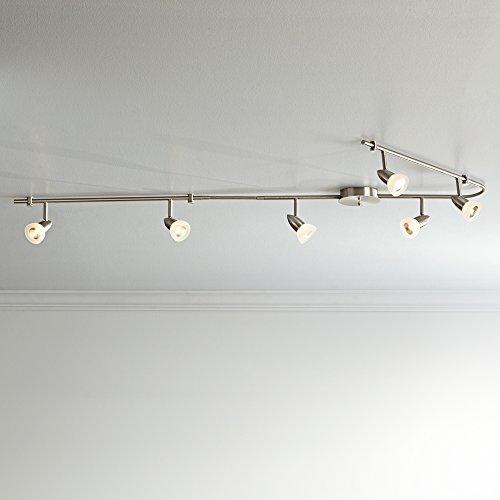 Flexible Track Ceiling Lighting: ProTrack Flex Rave 6-Light Brushed Nickel Track Fixture