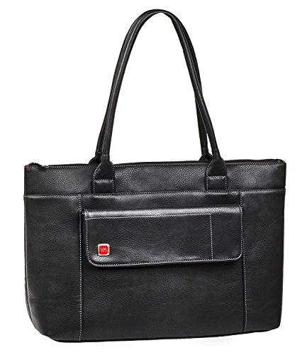 Rivacase 8991 15.6 Laptop Tote, Elegant, Classic, Sturdy, Black Vegan Leather ()