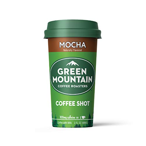 Green Mountain Coffee Shots - 100mg Caffeine, Mocha, Premium coffee energy boost in a ready-to-drink 2-ounce shot, 6 pack