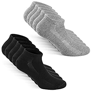 TUUHAW Chaussettes Homme Femme de 10 Paires Sport Coton Socquettes Respirant Courtes Chaussettes