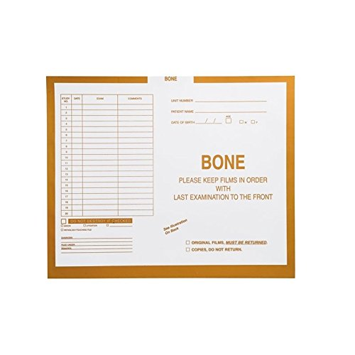 Bone, Yellow #115 - Category Insert Jackets, System II, Open Top - 14-1/4'' x 17-1/2'' (Carton of 250)