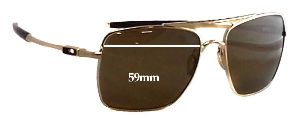 81cb45387d Amazon.com  SFx Replacement Sunglass Lenses fits Oakley Deviation OO4061  59mm wide (Polycarbonate Clear Hardcoat Pair-Regular)  Clothing