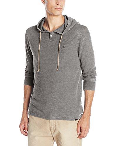Volcom Men's Murphy Hooded Thermal Shirt, Dark Grey, X-Large