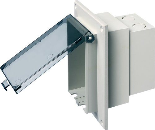ow Profile IN BOX Electrical Box with Weatherproof Cover for Flat Surface Retrofit Construction, 1-Gang, Vertical, White ()