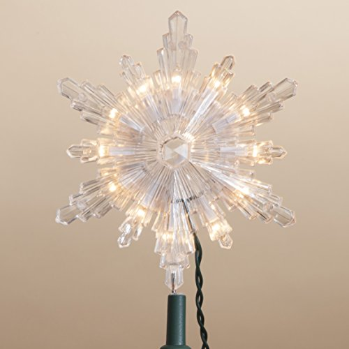 7.5 Inch Tall Starburst Clear Acrylic Tree Topper