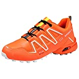 Breathable Hiking Shoes, Men Outdoor Hiking Cross-Country Shoes Low-top Wear-Resistant Solid Sneakers
