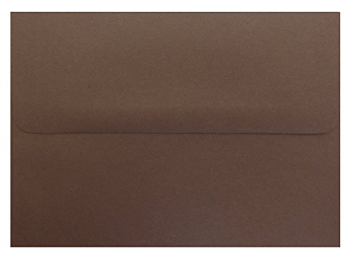 Dark Chocolate Brown 100 Boxed A7 (5-1/4 x 7-1/4) Envelopes 70lb for 5 X 7 Invitations Weddings from The Envelope Gallery