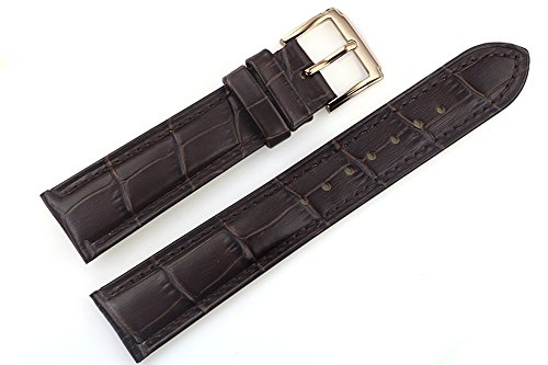 21mm-dark-brown-luxury-italian-leather-replacement-watch-straps-bands-grosgrain-padded-for-high-end-