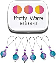 Turquoise and Pink Snag Free Knitting Stitch Markers