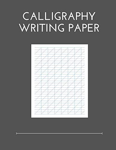 Calligraphy Writing Paper: 100 Sheet Pages