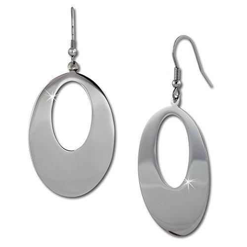 Amello Stainless steel dangle earrings big shiny drop, stainless steel ladies earring, original Amello ESOS85J (Steel Shiny Earrings Stainless)