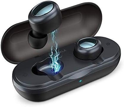 iWalk Auricolari Wireless Mini Cuffie Bluetooth in Ear Stereo HiFi  Sweatproof Senza Fili Cuffie con Custodia di Ricarica e Microfono  Compatibile con iPhone ... b92b118cfe30