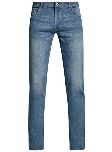 Slim Hombre 7400w Ultra Vaqueros oodji Azul Básicos HIgqnz