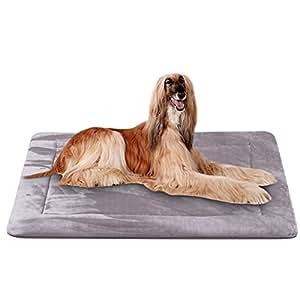 Colchoneta Grande Suave para Perros - 100% Lavable A Máquina, Colchón De Lujo Antideslizante De Gris, XL