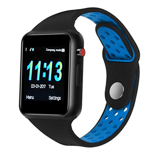 Cheap Smart Watches,SUNETLINK Touch Screen Bluetooth Smart Watch,Sport Smart Fitness Tracker Wrist Watch with Camera,Sweatproof Smart Watch with SIM TF Card,Smart Watches for Men Wome (Blue Black Color, M3)