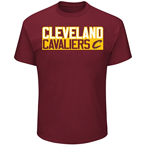 Cleveland Cavaliers T-shirt - Lebron James Cleveland Cavaliers #23 NBA Men's Vertical Player T-shirt Garnet (Large)