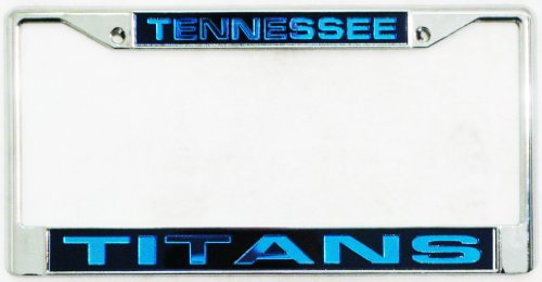 Tennessee Titans Laser License Plate - Rico Tennessee Titans Laser Chrome Frame