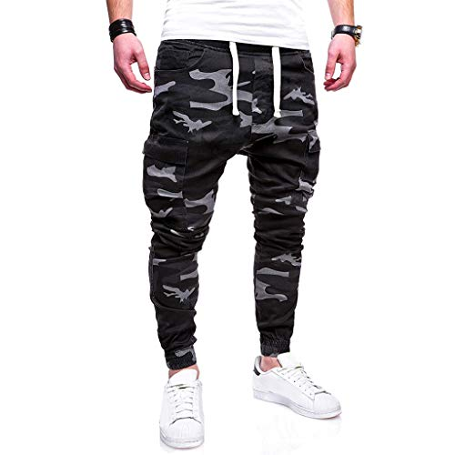 LISTHA Camo Cargo Pants Mens Skinny Stretch Denim Trouser Freyed Slim Fit Jeans