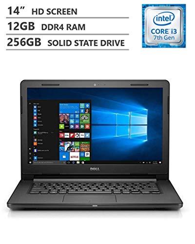 creen Business Laptop, Intel Core i3-7020U 2.30 GHz Dual-Core Processor, 12GB Memory, 256GB Solid State Drive, Wireless-AC, Bluetooth 4.2, Windows 10, Black ()