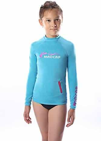 247d1109fb375 MADCAP Girls Rash Guard Long Sleeve Swimwear Swim Surf Shirt Top UV Sun  Protection for Toddler