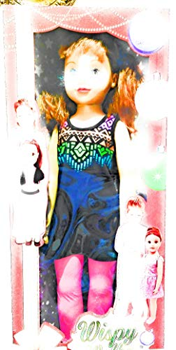Wispy Walker Lifesize Doll, Redhead with Blue Party Dress & Purple Stripe Leggings ()
