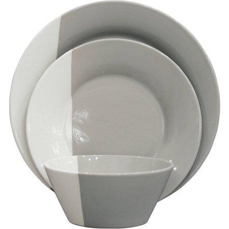 インディゴスワール 12個食器セット BH16-036-099-06 B01NBTF26V Gray Gray