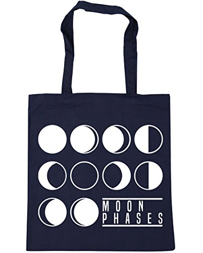 Tote Gym Phases Moon Shopping HippoWarehouse 42cm x38cm Beach Navy French litres 10 Bag cCEB5WqWwn