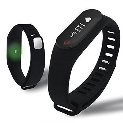 Fitness Tracker,Mynike Smart Bracelet Heart Rate Monitor Smartband Tracking Sleep Monitor Smart Wristband Pedometer Bracelet For Iphone Samsung HTC Sony Nokia Andriod Smart Phones