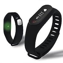 Fitness Tracker,Mynike Smart Bracelet Heart Rate Monitor Smartband Tracking Sleep Monitor Smart Wristband Pedometer Bracelet For Iphone Samsung HTC Sony Nokia Andriod Smart Phones (Black)