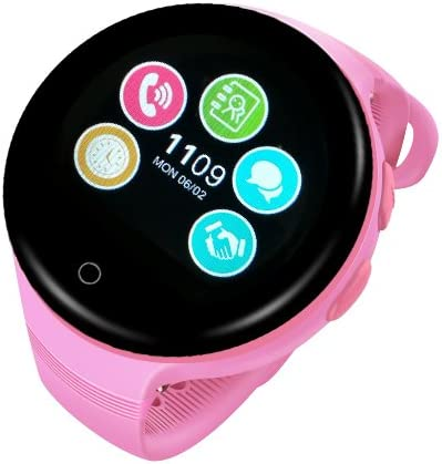 Ameter G7 GPS Tracker Kids Smartwatch, 2G Network Only, Anti-lost SOS Navigation Social Children Watch Phone with Wifi Pink