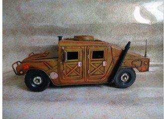 Metall Klassisch Alt Retro Dekor Modell Wagen Hummer Braun Geschenk